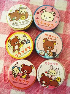 Rilakuma deco tape my favorrite  deco tapes are with many colorful!