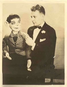 Ventriloquist and a dummie