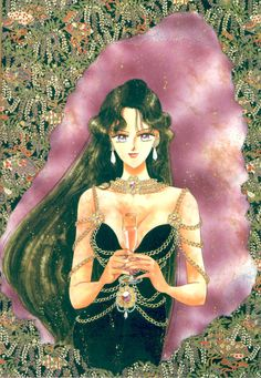 "Setsuna Meioh (Sailor Pluto) from ""Sailor Moon"" series by manga artist Naoko Takeuchi."