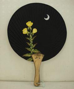 민화 달맞이꽃 부채 : 네이버 블로그 Little Things, Repurposed, Fan Art, Japanese, Embroidery, Drawings, Hand Fans, Projects, Painting
