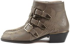 Suzanna Studded Boot Grey Green - Lyst
