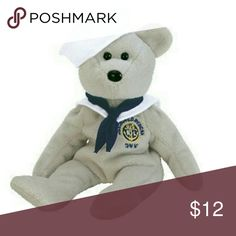 1ec50ddad42 TY Beanie Baby - RONNIE the Sailor Bear (USA Exclusive). This is the  perfect gift for the Navy valentine! This little bear looks so adorable  with his sailor ...