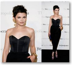 Ginnifer Goodwin in YSL, I love her face - cutting her hair was the best move!