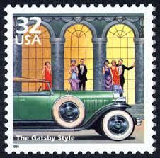 The Great Gatsby Style art deco USA postage stamp Old Stamps, Vintage Stamps, Vintage Tools, Vintage Cars, Scott Fitzgerald, Jazz Art, Postage Stamp Art, Gatsby Style, Gatsby Girl