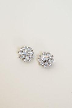 Vintage rhinestone earrings from Dalena Vintage