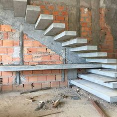 """7,196 mentions J'aime, 69 commentaires - Brasil engenharia e construção (@construnote) sur Instagram : """"Com louvor! Escada de concreto armado com degraus em balanço engastados em viga inclinada embutida…"""""""