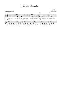 Výsledek obrázku pro písnička cib cib cibulenka