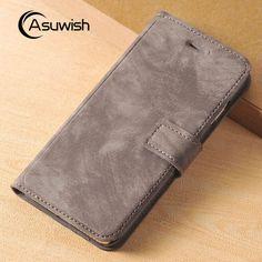 Casos del tirón teléfono For Apple iPhone 7 Plus Luxury Leather Case Flip Cover Wallet Bag With Card Holder Kickstand Phone Cases For iPhone 6 6s Plus ** Haga clic en la imagen para ver los detalles del producto en el sitio web AliExpress