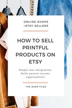 You can now sell Printful products on Etsy to create a more passive income stream for your business (you could previously, but had to use a ShipStation account which added an extra cost for new sellers). This is huge news! Not only because if you already have a Printful shop it opens you up to the Etsy marketplace with over 30 million buyers, but also since this is the first print-on-demand + drop ship service Etsy has ever approved. | Etsy seller tips