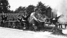 Walt Disney and his backyard railroad