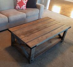 Farmhouse Coffee Table Weathered by TheChicNShabbyBean on Etsy