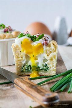 Eiermuffins - perfekt fürs Brunch- oder Osterbuffet! #herzhaft #muffins #brunch