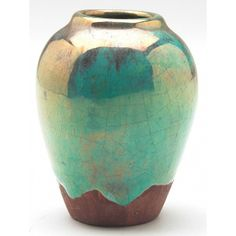 pewabic pottery | Nice Pewabic vase, bulbous shape covered in a very unusual ...