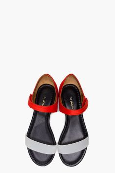 3.1 Phillip Lim Red Sidibe Flat Sandals...Champagne taste and beer pockets...the story of my life.