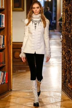 Chanel, Look #3- those boots! I'm in love with those boots!