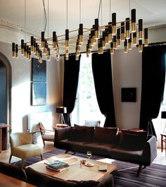 Just love those amazing living room ideas! What a unique lighting from Delightfull | see more at http://www.delightfull.eu/