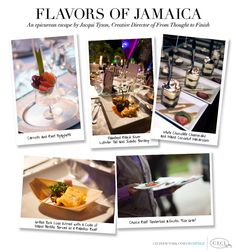 Flavors of Jamaica - An epicurean escape by Jacqui Tyson, Creative Director of From Thought to Finish. #jamaica #catering #ideas
