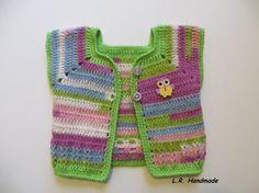 Crochet Newborn Baby Girls Vest 0 to 3 Months by ladybird113
