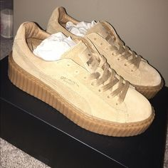 Puma creepers Nude puma creepers, never worn, size 6 Puma Shoes Sneakers