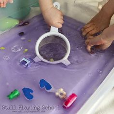 Still Playing School: Soothing Scented Goodnight Moon Inspired Sensory Play