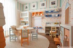 Brinquedoteca divertida com visual deslumbrante | Quarto de bebê – Decoração, bebês, gravidez e festa infantil