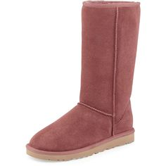 UGG Classic Tall Boot ($165) ❤ liked on Polyvore featuring shoes, boots, mid-calf boots, plum wine, high low boots, high boots, low boots, ugg australia and mid calf high boots