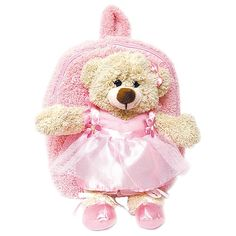 Amazon.com  Pecoware Best Buddy Backpack with Removable Plush - Ballerina  Bear in Dress  Toys   Games. Animal BackpacksKids ... b42d85a7f7f7c