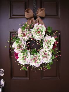 Spring Large Blooms and Berry Wreath with by TheWrightWreath, $65.00