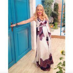 H Μαρία Μπεκατώρου φόρεσε ένα τέλειο boho σύνολο d8919f4be6f