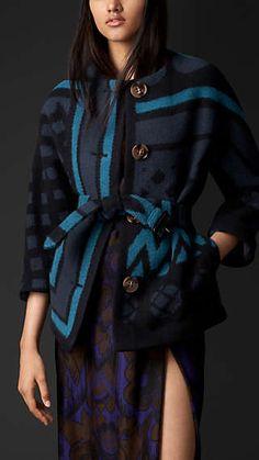 Geometric Blanket Jacket