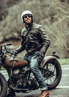 Men with sunglasses & helmet on his motorcylce ⋆ Men's Fashion Blog - TheUnstitchd.com
