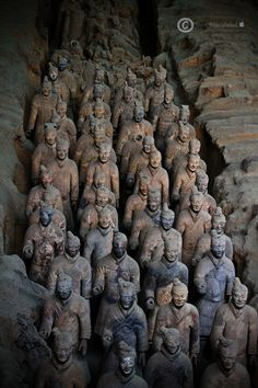 The Terracotta Army, Xi'an, China That moment when you know something would be completely amazing to see, but you also know you'd be unbelievably freaked oh by it...