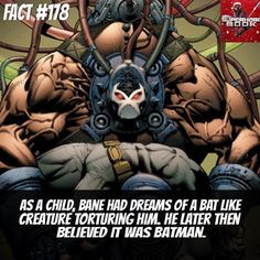 No wonder why he's so pissed at Batman... What do you guys think?  Follow for awesome daily content all day everyday.... Get your Geek on!  #bane #batman #dc #dccomics #dcuniverse #brucewayne #fact #comicfact #truth #interesting #supervillainfacts #supervillain #geek #geeky #nerdygirl #nerd #nerdy #comic #comics #comicbooks #comiccon #wondercon #picoftheday