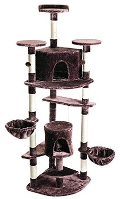 Cat Tree Tower Condo Furniture Scratching Post Pet Kitty Play House Brown -- Read more details by clicking on the image.