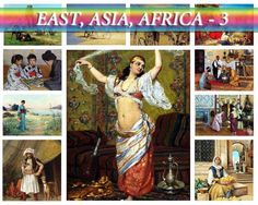 ASIA AFRICA East-3 theme on 207 vintage paintings High