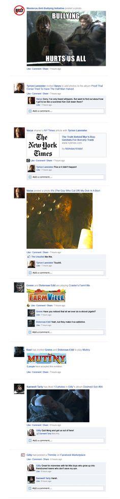 Game Of Thrones Facebook Recap Season 3 Episode 4 | Happy Place