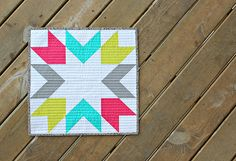 Starburst Mini Quilt PDF Pattern - Canoe Ridge Creations