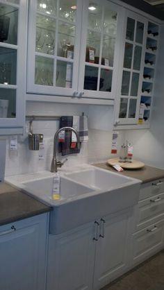 Ikea kitchen in white