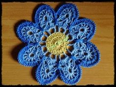 Crochê - Flor 1 - Tutorial - Parte 2 de 2 (Вязание крючком - Flower 1 - Учебник - Часть 2 из 2)
