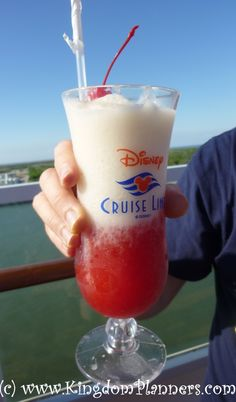 Disney Magic out of Galveston, Texas - Lava Flow at the Sail Away Party!   Disney Cruise Line