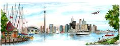 illustration toronto skyline - Google Search