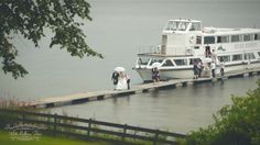 White Balloon Films / Wedding Videographer Scotland / Luss Church Wedding / The Cruin Wedding / Bride & Groom Arrive On A Boat
