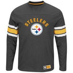 Pittsburgh Steelers Majestic Power Hit Long Sleeve T-Shirt - Black