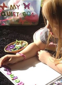 Quiet Box. Independent Activities for Kids. See the items we included inside our quiet box.