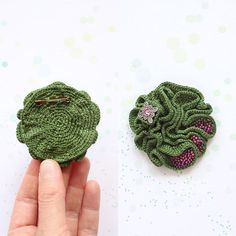 Crochet brooch My Forest Treasure reserved for kgiles23 by ulani