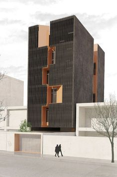Miremad Office Building in Iran by Shift Process Practice Office Building Architecture, Building Facade, Facade Architecture, Residential Architecture, Amazing Architecture, Contemporary Architecture, Office Buildings, Chinese Architecture, Futuristic Architecture