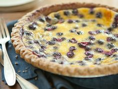 Make this rich custard pie in the summer, when fresh, plump blueberries are at their best. Change up the flavor by adding 1/4 teaspoon ground cinnamon or 1 teaspoon lemon zest.