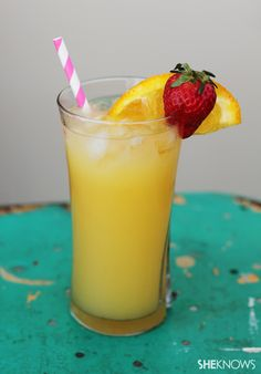 Island Getaway Jamaican Me Happy, coconut rum, Triple sec lemon juice and orange juice