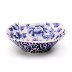 Peony Design Square Bowl