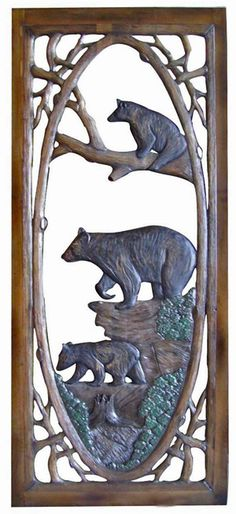 hand carved screen door....just gorgeous!  And when the dog jumps on it?